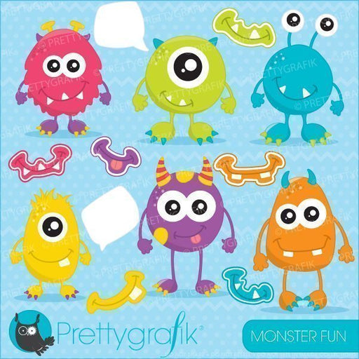 Monster fun clipart  Prettygrafik    Mygrafico