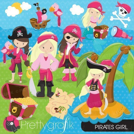 Pirate Girl Clipart  Prettygrafik    Mygrafico