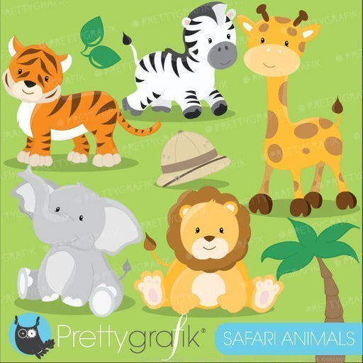 Safari animals clipart  Prettygrafik    Mygrafico