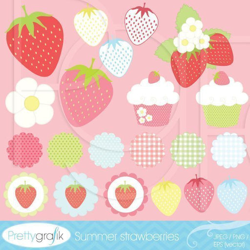 Summer strawberries  Prettygrafik    Mygrafico