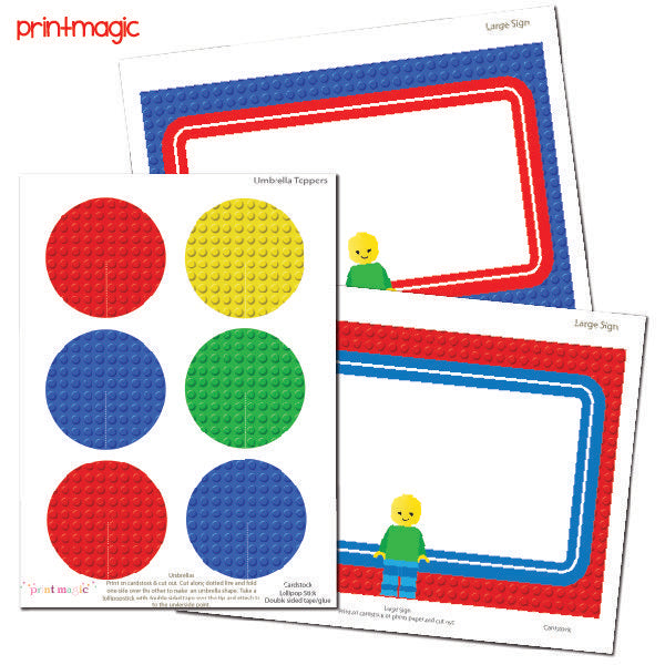 Building Blocks Party Kit Party Printable Templates Print Magic    Mygrafico