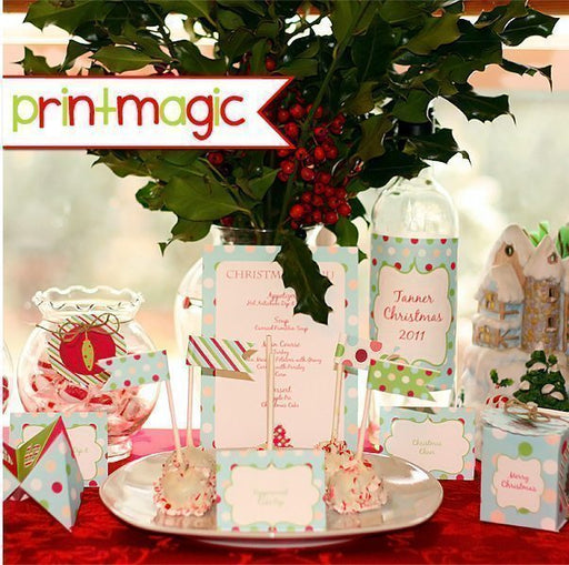 Christmas Cheer Printable Dinner Set  Print Magic    Mygrafico