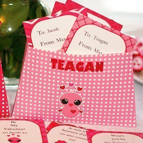 Valentine Box & Cards Printable Kit  Print Magic    Mygrafico