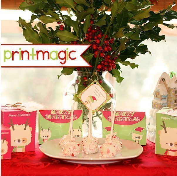 Lil Bear Christmas Printable Box & Gift Tag Set  Print Magic    Mygrafico
