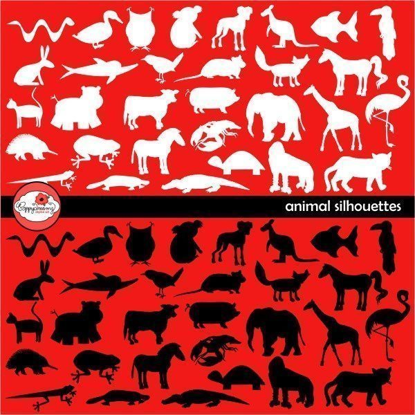 Animal Silhouettes Digital Stamps by Poppydreamz  Poppydreamz    Mygrafico