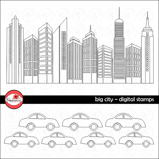 Big City Digital Skyscraper Digital Stamps by Poppydreamz  Poppydreamz    Mygrafico