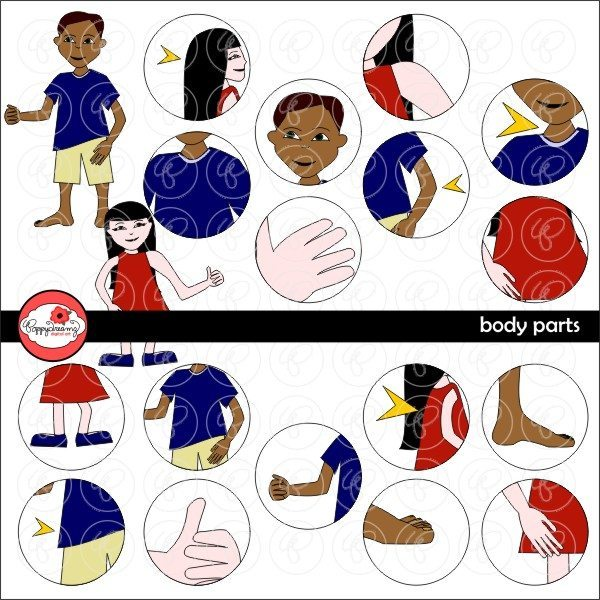 Body Parts Clipart by Poppydreamz  Poppydreamz    Mygrafico