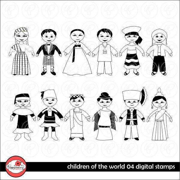 Children of the World Digital Stamps 04 by Poppydreamz  Poppydreamz    Mygrafico