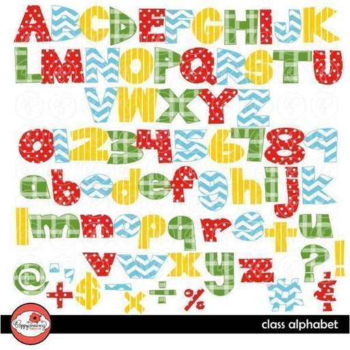 Class Alphabet by Poppydreamz  Poppydreamz    Mygrafico