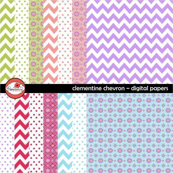 Clemetine Chevron by Poppydreamz  Poppydreamz    Mygrafico