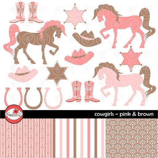 Cowgirls Brown & Pink by Poppydreamz  Poppydreamz    Mygrafico