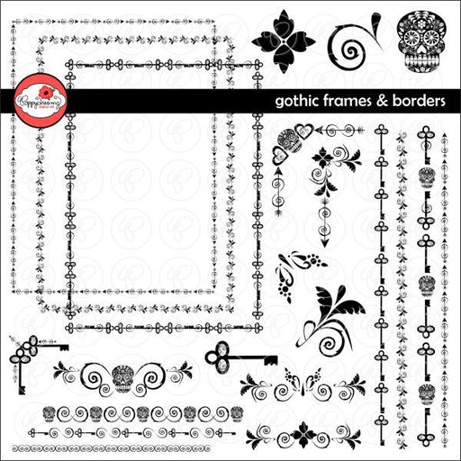 Gothic Frames and Borders by Poppydreamz  Poppydreamz    Mygrafico
