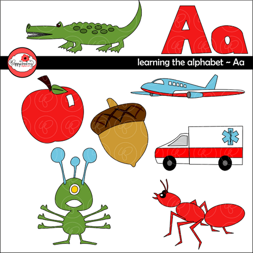 Learning the Alphabet - The Letter A Clipart by Poppydreamz Cliparts Poppydreamz    Mygrafico