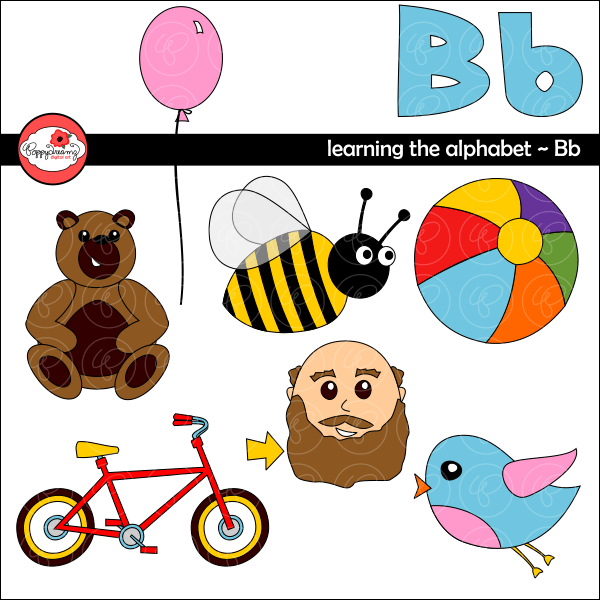 Learning the Alphabet - The Letter B Clipart by Poppydreamz  Poppydreamz    Mygrafico