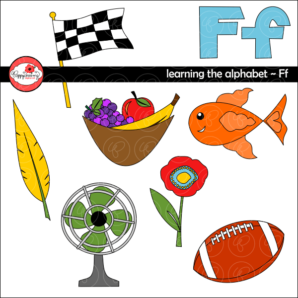 Learning the Alphabet - The Letter F Clipart by Poppydreamz  Poppydreamz    Mygrafico