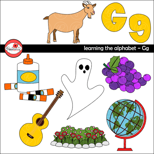 Learning the Alphabet - The Letter G Clipart by Poppydreamz  Poppydreamz    Mygrafico