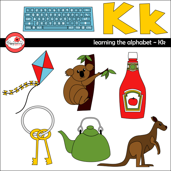 Learning the Alphabet - The Letter K Clipart by Poppydreamz  Poppydreamz    Mygrafico
