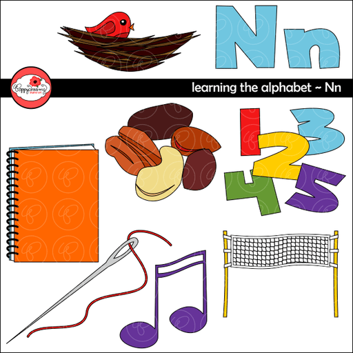 Learning the Alphabet - The Letter N Clipart by Poppydreamz  Poppydreamz    Mygrafico