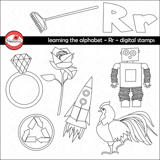 Learning the Alphabet - The Letter R Digital Stamps by Poppydreamz  Poppydreamz    Mygrafico