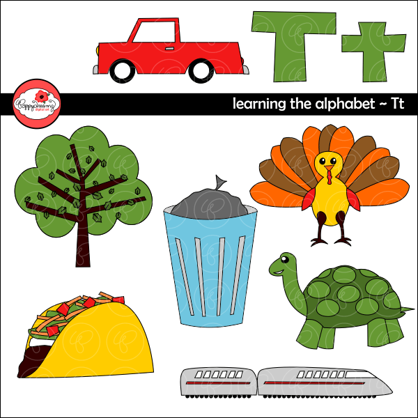Learning the Alphabet - The Letter T Clipart by Poppydreamz  Poppydreamz    Mygrafico