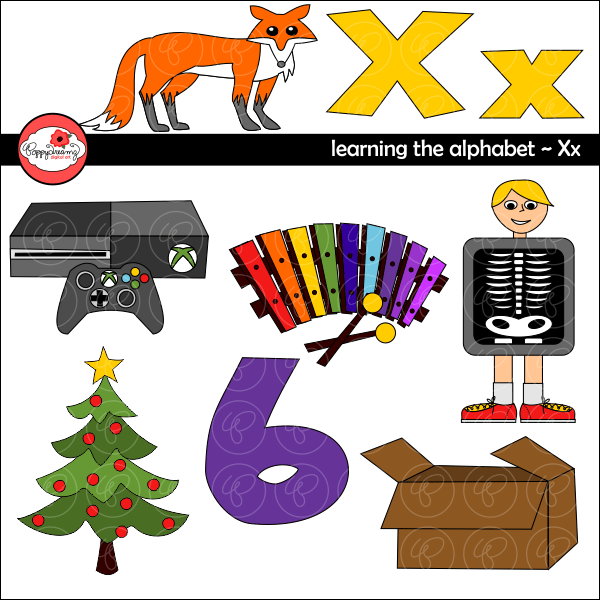Learning the Alphabet - The Letter X Clipart by Poppydreamz  Poppydreamz    Mygrafico