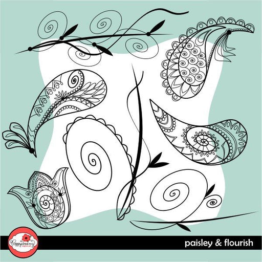 Paisley and Flourish by Poppydreamz  Poppydreamz    Mygrafico
