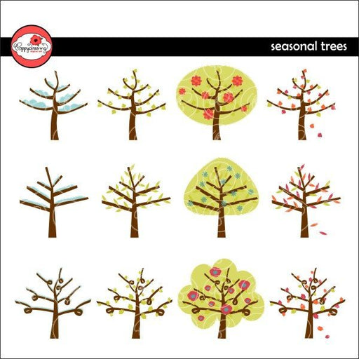 Seasonal Trees by Poppydreamz  Poppydreamz    Mygrafico