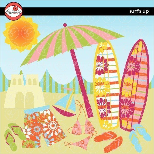 Surf's Up Clipart by Poppydreamz  Poppydreamz    Mygrafico