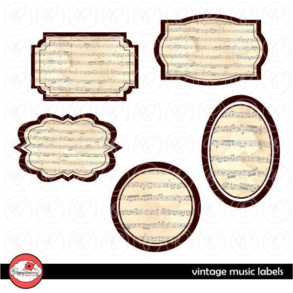 Vintage Music Labels by Poppydreamz  Poppydreamz    Mygrafico