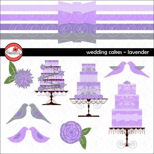 Wedding Cakes Lavender by Poppydreamz  Poppydreamz    Mygrafico
