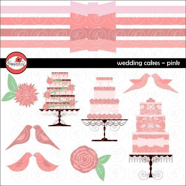 Wedding Cakes Pink by Poppydreamz  Poppydreamz    Mygrafico