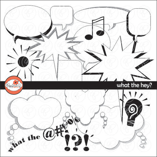 What the Hey Clipart by Poppydreamz  Poppydreamz    Mygrafico