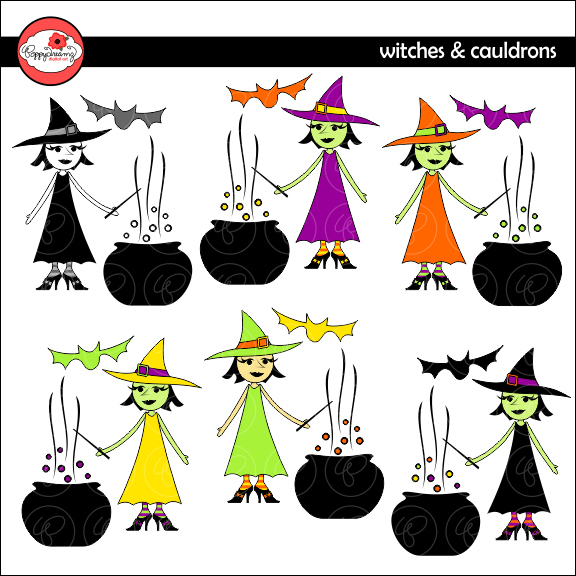 Witches & Cauldrons Clipart by Poppydreamz  Poppydreamz    Mygrafico