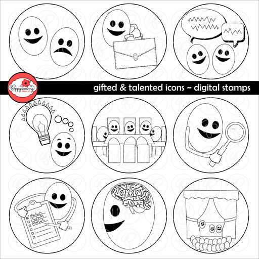 Gifted & Talented Icon - Digital Stamps by Poppydreamz  Poppydreamz    Mygrafico