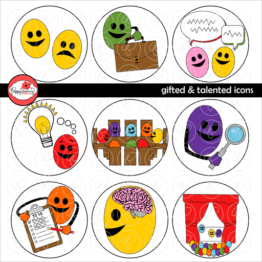 Gifted & Talented Icons by Poppydreamz  Poppydreamz    Mygrafico