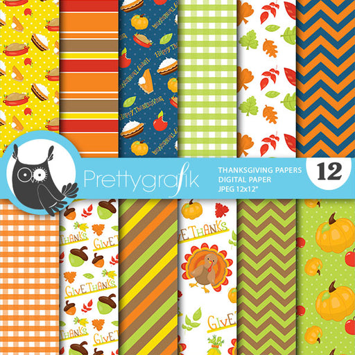Thanksgiving papers Digital Papers & Backgrounds Prettygrafik    Mygrafico