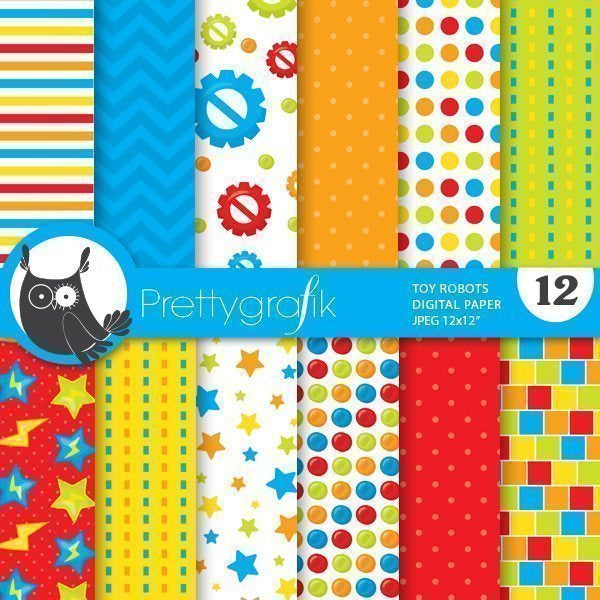 Robot digital papers  Prettygrafik    Mygrafico