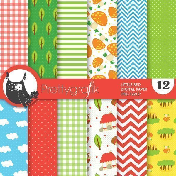 Little red digital papers  Prettygrafik    Mygrafico