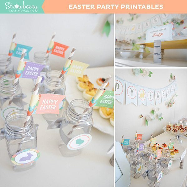 Easter Party Printables Party Printable Templates Strawberry Mommycakes    Mygrafico