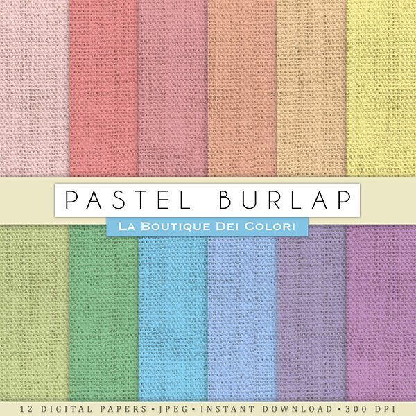 Pastel Burlap Digital Papers  La Boutique Dei Colori    Mygrafico