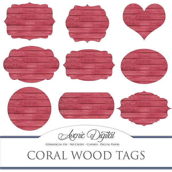 Red wood tags  Avenie Digital    Mygrafico