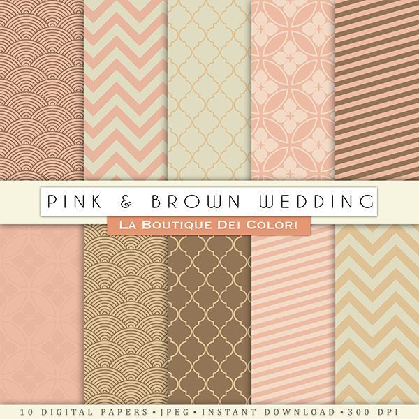 Pink and Brown Wedding  La Boutique Dei Colori    Mygrafico
