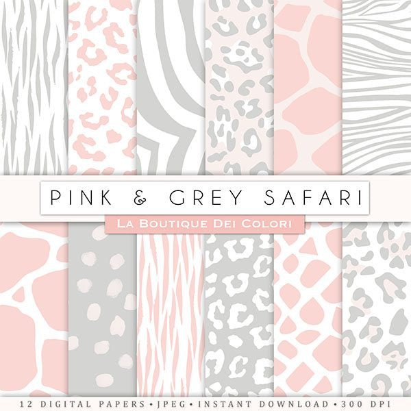 Pink and Gray Animal Prints  La Boutique Dei Colori    Mygrafico