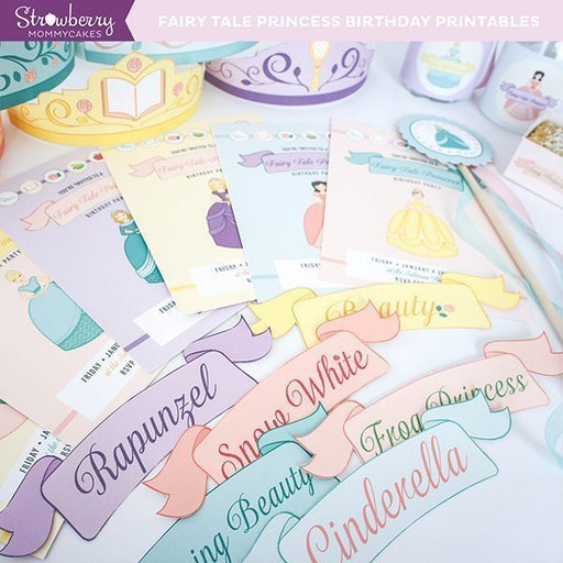 DIY Fairy Tale Princess Party Printables Party Printable Templates Strawberry Mommycakes    Mygrafico