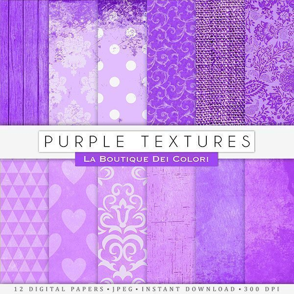 Purple Texture Digital Papers  La Boutique Dei Colori    Mygrafico