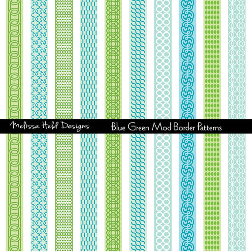 Blue Green Mod Border Patterns Cliparts Melissa Held Designs    Mygrafico