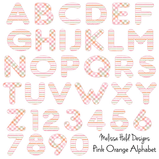 Pink Orange Clipart Alphabet Cliparts Melissa Held Designs    Mygrafico