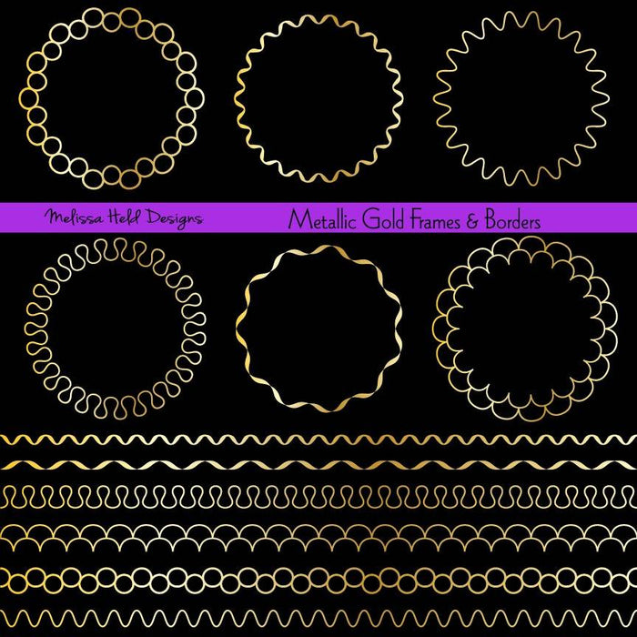 Gold Circle Frames and Borders Digital Clipart Cliparts Melissa Held Designs    Mygrafico
