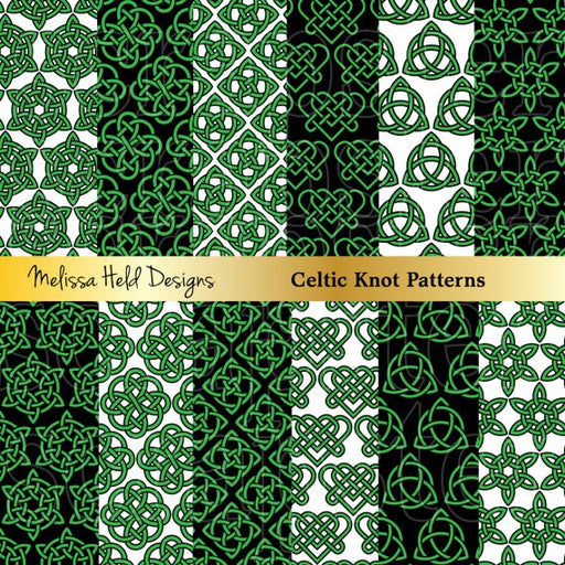 Celtic Knot Patterns Digital Paper & Backgrounds Melissa Held Designs    Mygrafico