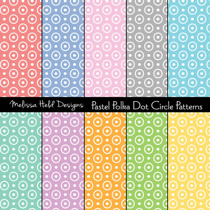 Pastel Polka Dot Circle Patterns Digital Paper & Backgrounds Melissa Held Designs    Mygrafico
